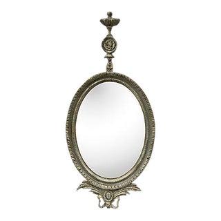 Parcel-Gilt Louis XVI Oval Mirror, 1930s For Sale