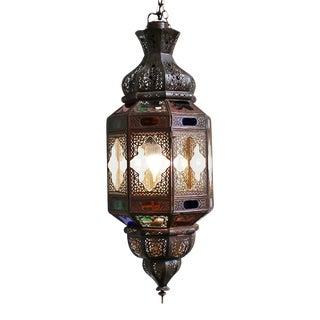 Metal Work Multicolored Lantern For Sale