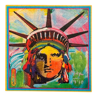 1990 Peter Max Liberty Painting Jigsaw Puzzle For Sale