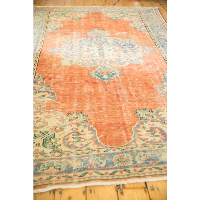 "Old New House Vintage Distressed Oushak Carpet - 5'6"" X 9' For Sale - Image 4 of 10"