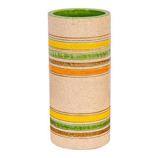 Rosenthal Netter Striped Italian Vase for Bitossi For Sale