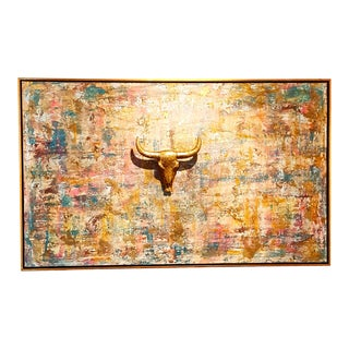 Golden Breeze Contemporary Abstract Painting For Sale