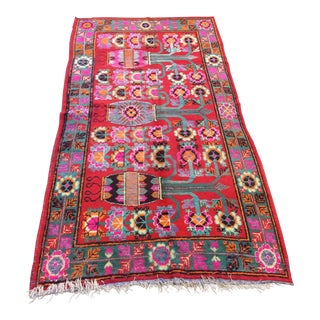 Vintage Chinese Khotan Rug - 4'9x10' For Sale