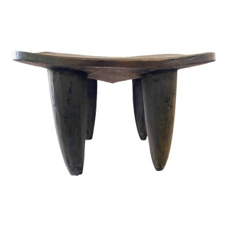 "African Senufo Stool / Table I Coast 18"" H by 26.5"" W For Sale"