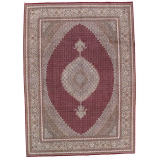 "Pasargad N Y Persian Tabriz Fish Design Rug - 8'4"" X 11'8'' For Sale"