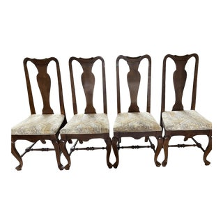 Ethan Allen Solid Maple Queen Anne Style Dining Chairs - Set of 4 For Sale