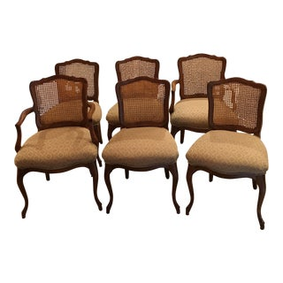 1970s Vintage Kindel Cherry Dining Chairs - Set of 6 For Sale
