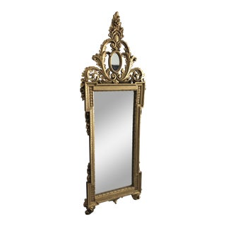 Vintage Baroque Style Wall Mirror For Sale