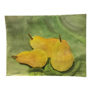 3 Pears Original Watercolor Painting For Sale