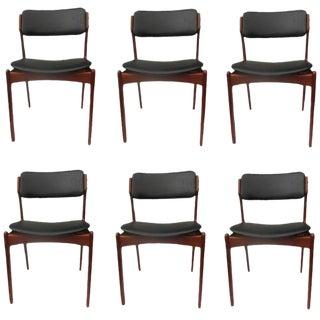 1960s Scandinavian Modern Erik Buch Teak Dining Chairs - Set of 6 For Sale