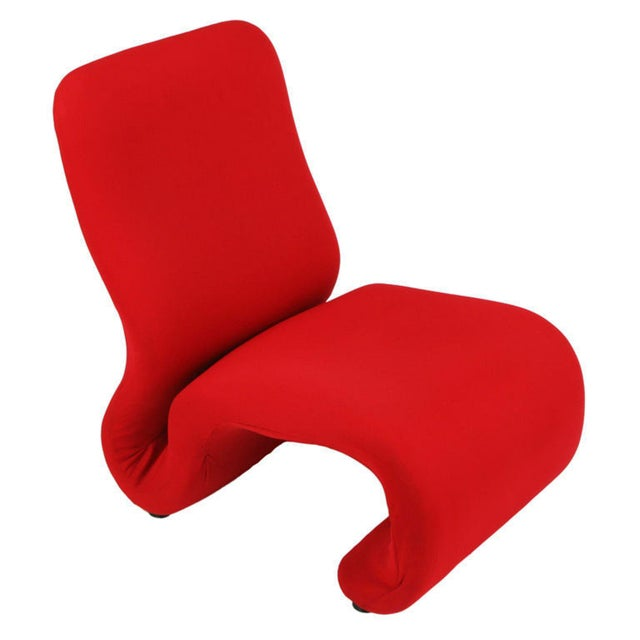 Swedish Modern Red Wool Ribbon Chair For Sale - Image 9 of 9