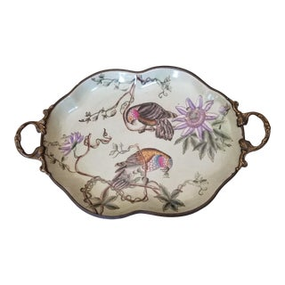 Bronze Mounted Parrot Platter For Sale