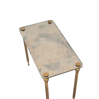A Set of Three Brass Side Tables With Mirror Tops Preview