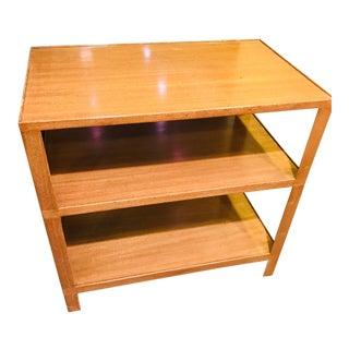 Mid-Century Modern Dunbar 3- Shelf End Table/Nightstand For Sale