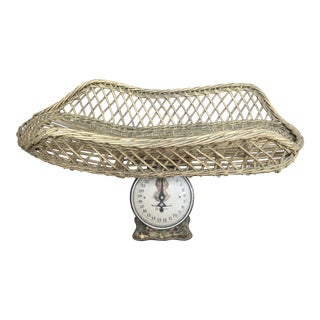 Antique Rattan Baby Scale For Sale