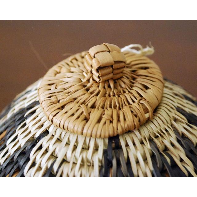 Natural Fiber Vintage Zulu Seed Basket For Sale - Image 7 of 8