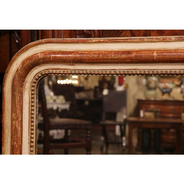 Contemporary 19th Century French Louis Philippe Goldleaf Mirror With Beads For Sale - Image 3 of 8