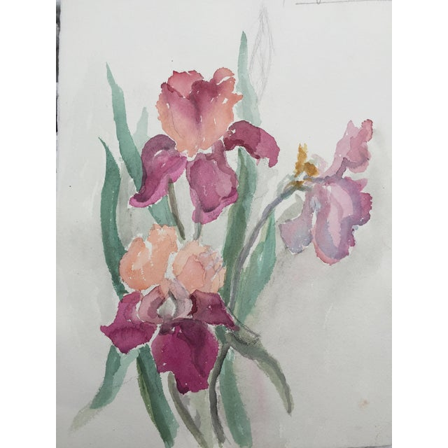 Vintage Watercolor of Flowers by Mary Chott - Image 3 of 5