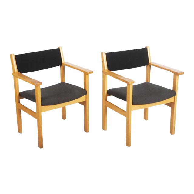 Vintage Armchairs by Hans J. Wegner for Getama - A Pair For Sale
