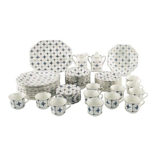 53 Pieces Royal Staffordshire Homespun Ironstone J&g Meakin China Dinnerware - For Sale