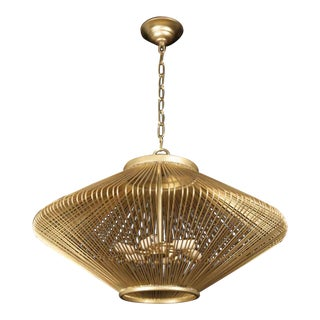Mid-Century Modern Diamond Shaped Cage Pendant Light For Sale