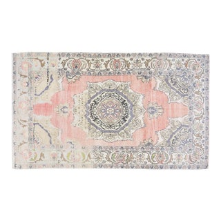 """Vintage Turkish Anatolian Hand Knotted Organic Wool Fine Weave Rug,4'10""""x8'8"""" For Sale"""
