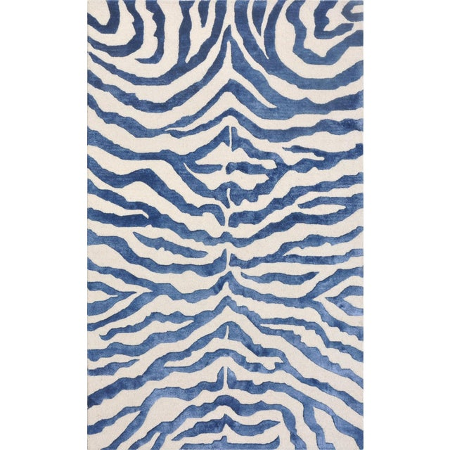 Bamboo Silk & Wool Zebra Area Rug - 5' X 8' - Image 5 of 5