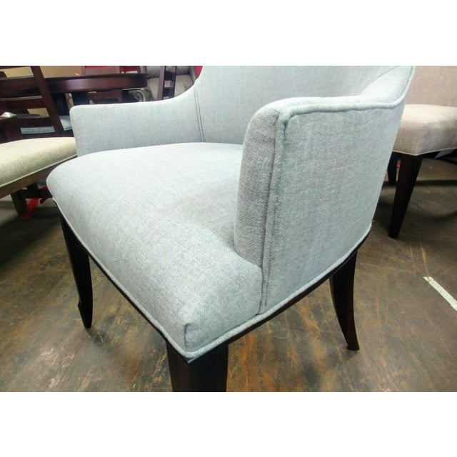 Henredon Furniture Barbara Barry Bowmont Light Grey Dining Chairs - Set of 6 For Sale - Image 10 of 13