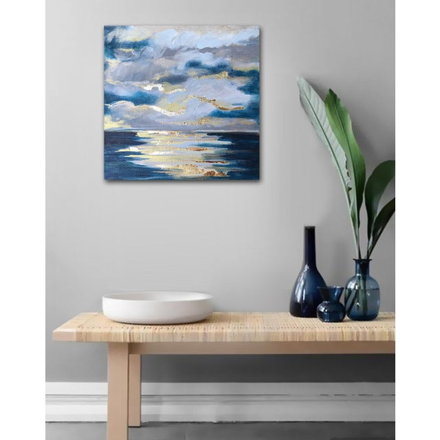 Abstract 'At Sea' Original Abstract Landscape Painting by Linnea Heide For Sale - Image 3 of 8