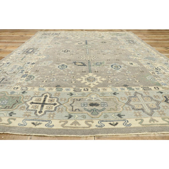 Textile Contemporary Turkish Oushak Rug With Modern Style - 08'11 X 12'07 For Sale - Image 7 of 9