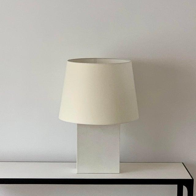 Paper Large 'Bloc' Parchment Table Lamp by Design Frères For Sale - Image 7 of 7