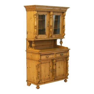 19th Century Antique Romanian Pine Cupboard For Sale