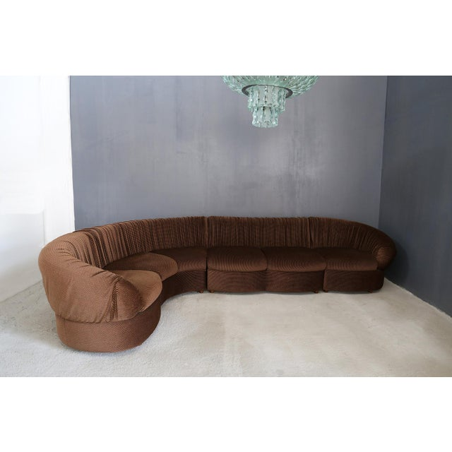 70's Modular Corner Sofa With Armchair. For Sale - Image 9 of 9