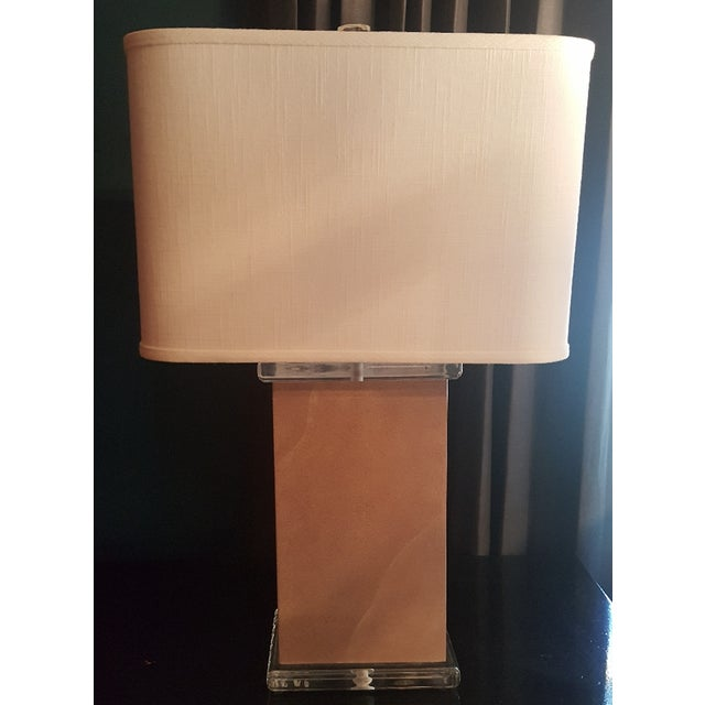 Mid-Century Vellum Table Lamps - A Pair For Sale - Image 4 of 7
