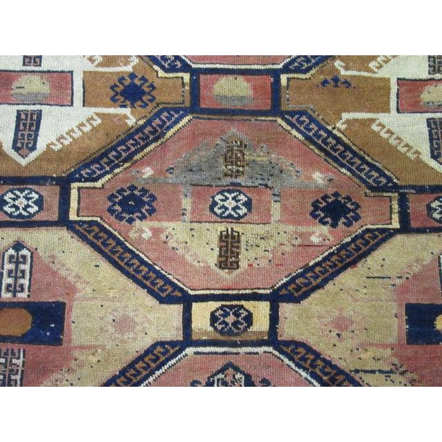 "Vintage Handmade Wool Turkish Anatolian Rug-4'3'x4'10"" For Sale - Image 4 of 10"