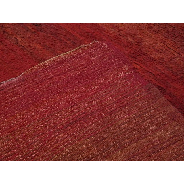 Red Red Beni Mguild Moroccan Berber Rug For Sale - Image 8 of 9