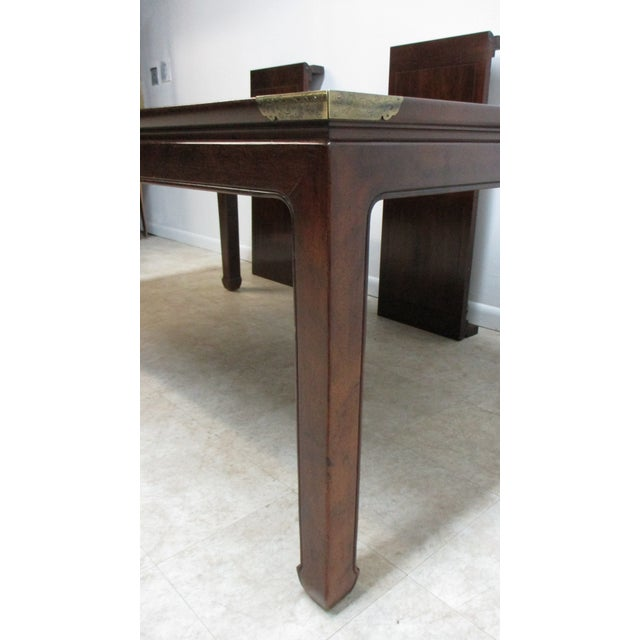 Henredon Chippendale Henredon Pan Asian Dining Room Conference Table For Sale - Image 4 of 13
