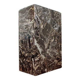1980s Contemporary Black Marble Pedestal For Sale
