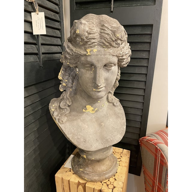 Vintage Continental Classical Revival Bust For Sale - Image 4 of 4