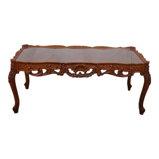 Charming French Style Inlaid Coffee Table For Sale