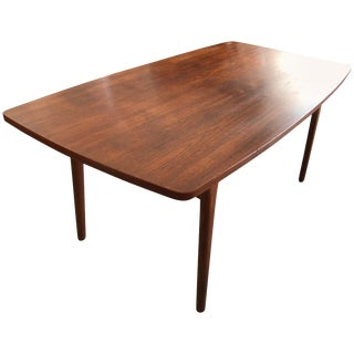 1950s Mid-Century Modern Henning Kjaernulf for Bruno Hansen Boat Shaped Dining Table For Sale