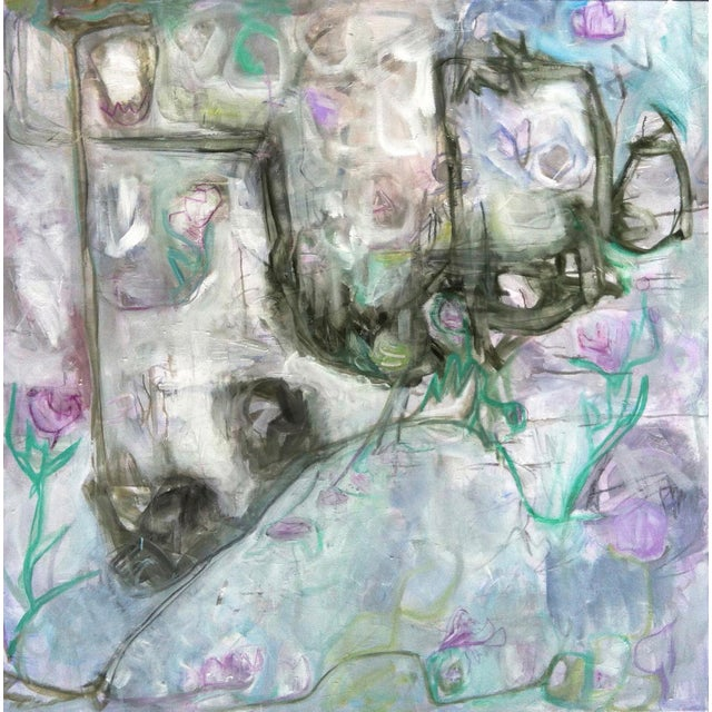 """Trixie Pitts's """"Monkey Business"""" Large Abstract Painting - Image 2 of 6"""