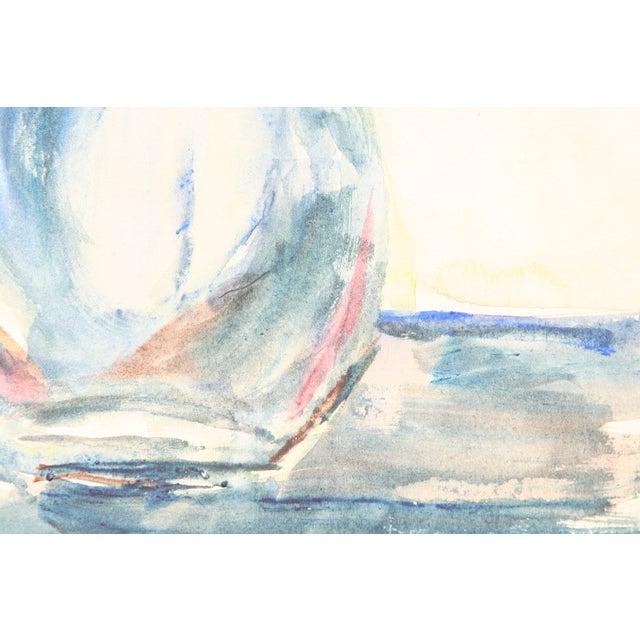 Blue Bottle Watercolor Painting by Kathryn Bernard - Image 4 of 4