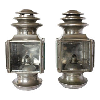 Antique Adlake Balanced Draft Lamps - A Pair