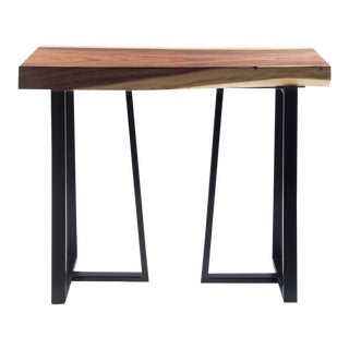 Industrial Live Edge Acacia Wood Console Table - 39.5 x 17 For Sale