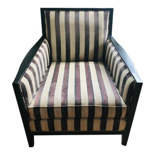 Striped Arm Chair For Sale