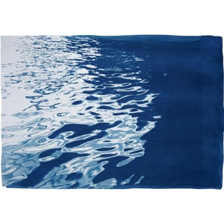 "Limited Edition Cyanotype : ""Black Sea Rhythms "" 100x70cm / Handprinted With Natural Sunlight 7 Made on Watercolor Paper For Sale"
