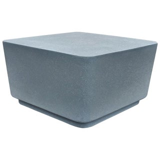 Cast Resin 'Block' Cocktail Table, Gray Stone Finish by Zachary A. Design For Sale