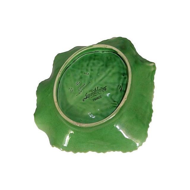 Majolica Cabbage Leaf Platter For Sale - Image 4 of 4