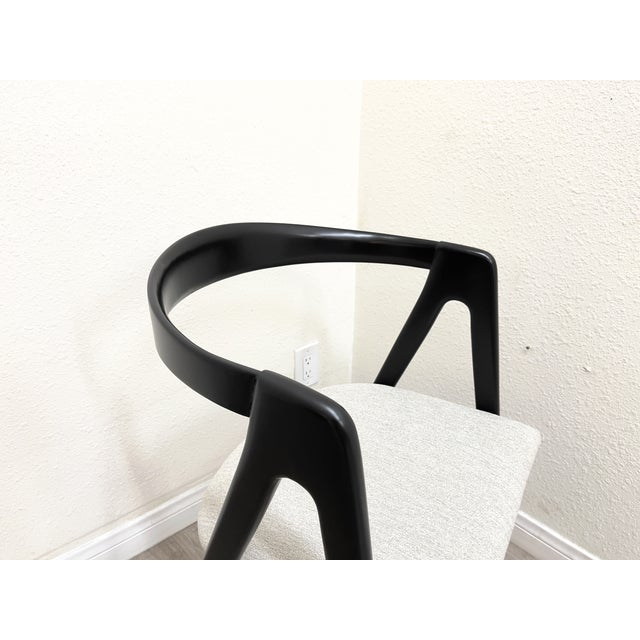 Ebony Mid Century Modern Italian Dining Chairs For Sale - Image 8 of 13